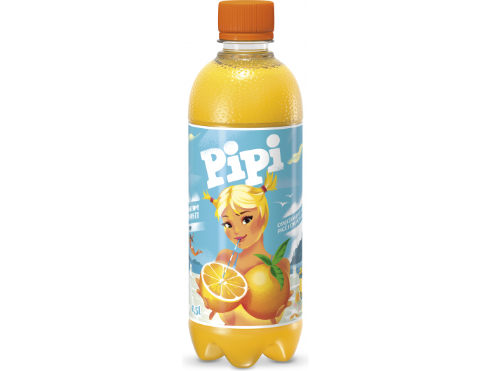 Pipi gazirano piće s okusom naranče 0,5 L