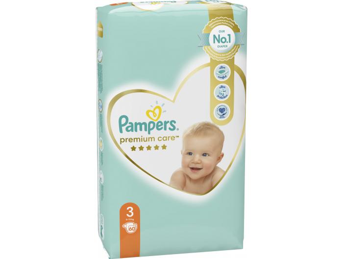 Pampers Premium care Dječje pelene vel. 3 (6-10 kg) 60 kom