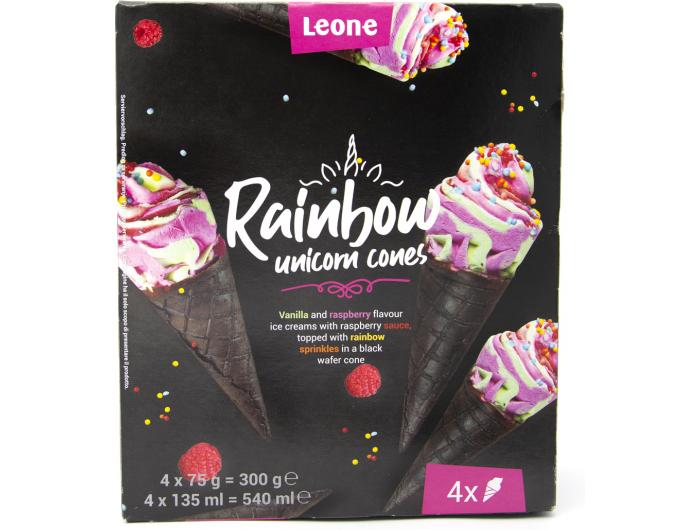 Rainbow sladoled kornet 4 x 135 ml