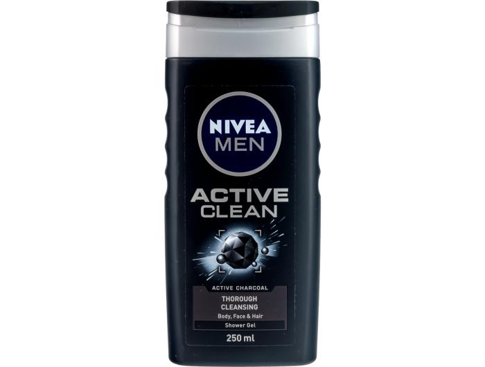 Nivea gel za tuširanje active clean za muškarce 250 ml
