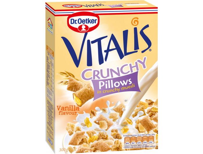 Dr. Oetker Vitalis hrskavi žitni jastučići s okusom vanilije 300 g