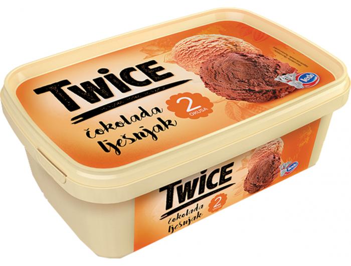 Ledo Twice sladoled čokolada i lješnjak 1 L