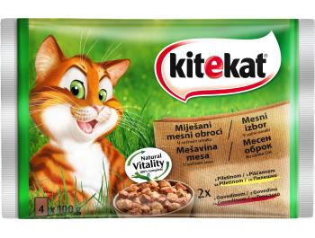 Kitekat hrana za mačke piletina i govedina 1 pak 4x100 g
