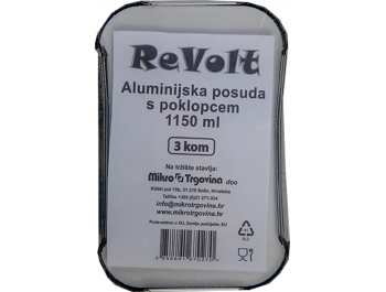 Aluminijska posuda 3 kom