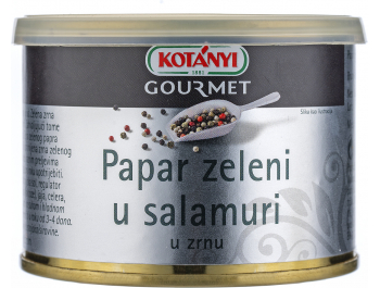 Kotany zeleni papar u salamuri 100 g