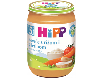 Hipp dječja hrana povrće s rižom i piletinom 190 g