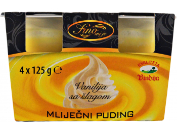 Vindija mliječni puding vanilija sa šlagom 1 pak 4x125 g