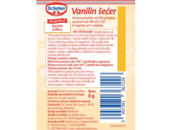 Dr. Oetker Vanilin šećer 6x10 g, 5+1 GRATIS