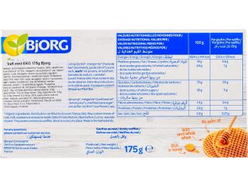 Bjorg BIO vafli s medom 175 g