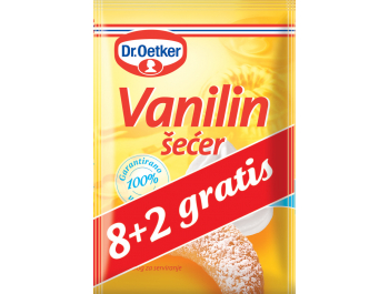 Dr. Oetker vanilin šećer 10x80 g, 8+2 GRATIS