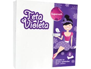 Teta Violeta Salvete Bijele 1 pak 25 kom
