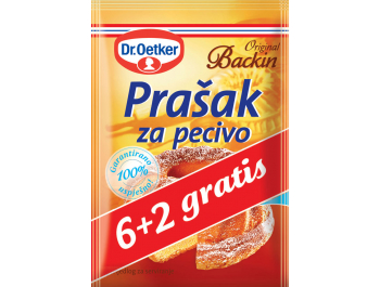 Dr Oetker prašak za pecivo, 1 pak, 8x12 g, 6+2 GRATIS