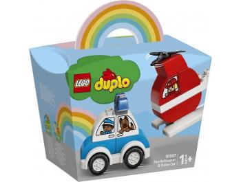 Lego Duplo Vatrogasni helikopter i policijski automobil