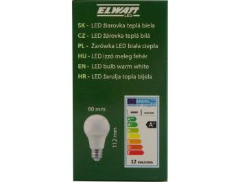 Elwatt LED žarulja 12 W 3000 K