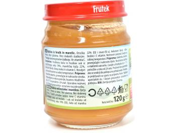 Fructal Frutek voćna kašica od marelice i kruške 4+ mj. 120 g