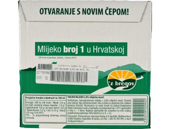 Vindija 'z bregov trajno mlijeko 2.8% m.m. 6x1L