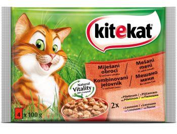 Kitekat hrana za mačke piletina i losos 1 pak 4x100 g