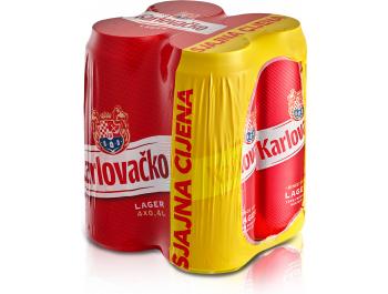 Karlovačko pivo svijetlo limenka 0,4 L 4-pack