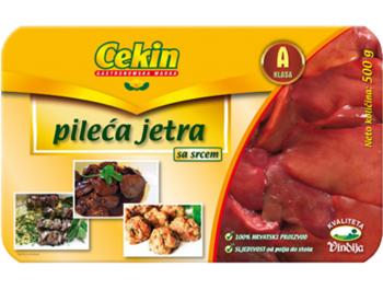 Vindija Cekin pileća jetra sa srcem 500 g