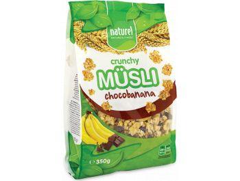 Musli, 350 g, s čokoladom i bananom, Naturel