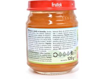 Fructal Frutek voćna kašica od jabuke i mrkve 4+ mj. 120 g