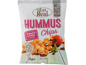 Eat Real čips od humusa s okusom rajčice i bosiljka 45 g